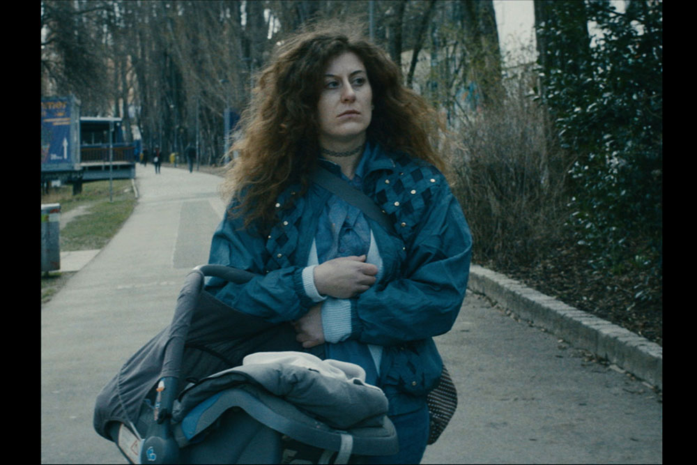 Suzie Léger as Carla in Astronauts (filmstill) by Mariano Cabaco
